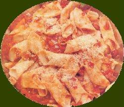 Garganelli caseros con salsa de vegetales