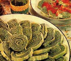 Otra forma de pasta original arrollado de espinaca, ricotta y pollo