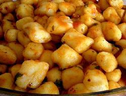 Masa básica de ñoquis de zapallo ( calabaza, auyama ) otra opción