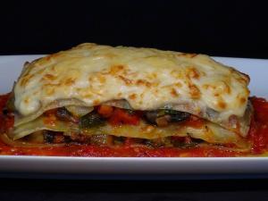 Lasaña de verduras y queso