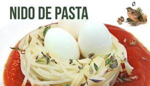 Nido de pasta con huevos de codorniz