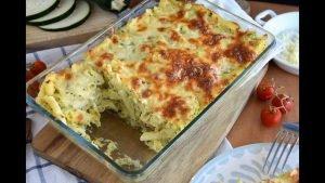 Pasta en salsa de calabacín o zapalllo
