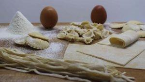 Pasta fresca hecha a mano